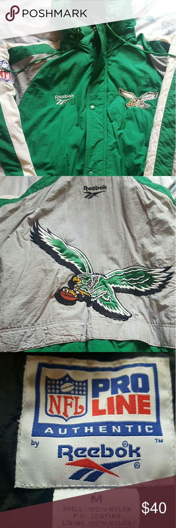 Vintage Philadelphia Eagles jacket Authentic throwback Reebok Eagles jacket. Good condition Reebok Jackets & Coats