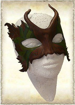 Hand gemaakt leren masker van Eternaldesigns op Etsy