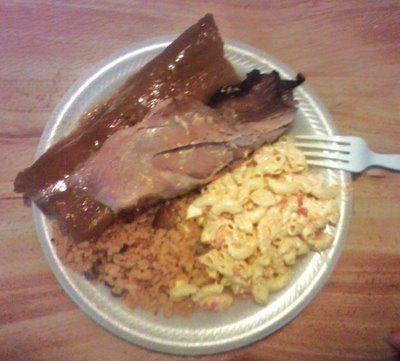 Pernil arroz con gandules y ensalada de coditos comemos - Ensalada de arroz con atun ...