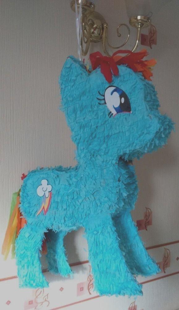 M y little pony Raimbow dash  hit Pinata & conffeti  birthday celebration party