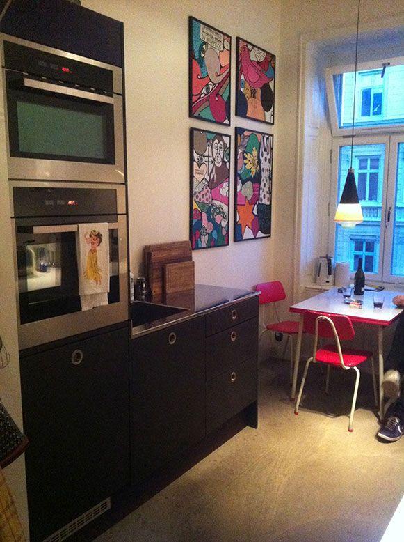 platsbyggd kök svart mdf med osmo moderskeppet stockholm