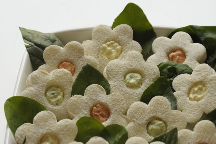 Serve a bouquet of miniature flower sandwiches at your next tea party!