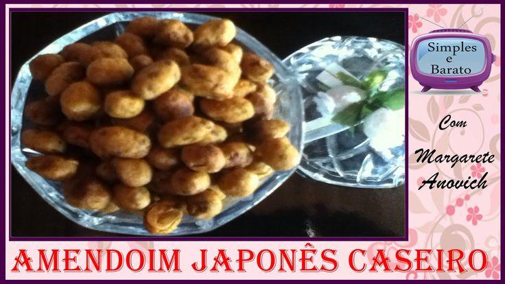 Aprenda fazer Amendoim Japonês em casa, igualzinho ao comprados nos mercados, usando ingredientes simples e barato que você tem em casa para fazer o amendoim...
