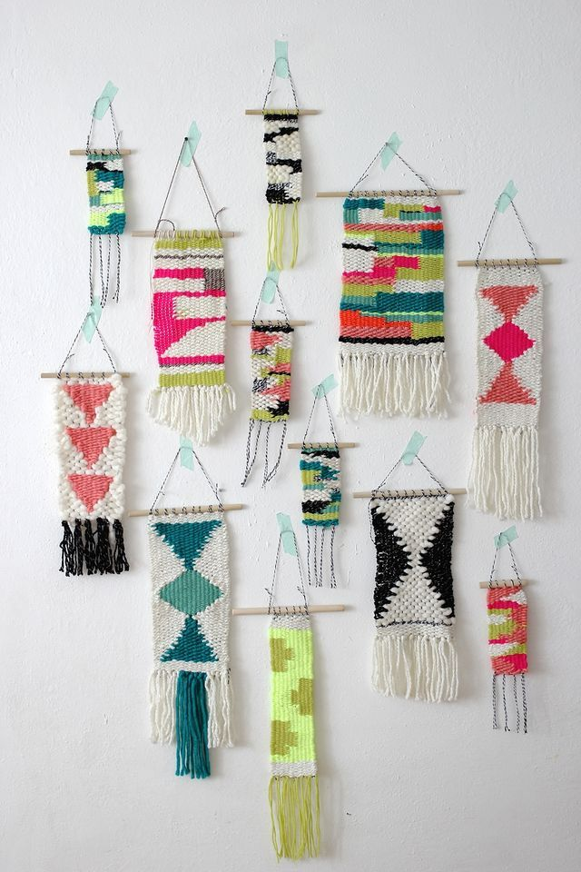 Just like traditional weaving with beads you can create patterns