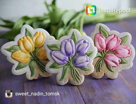 Floral Art Cookies