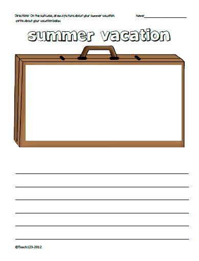 Summer vacation printables - freent