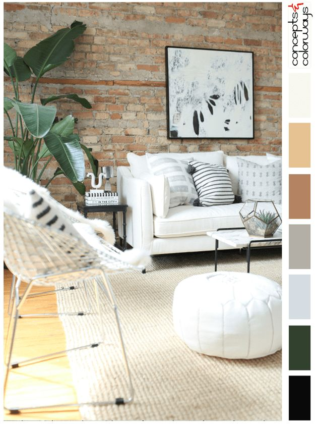 Urban Neutrals Interior Color Palette For Interiors Neutral Black Accents