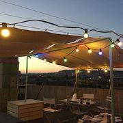 Bunte Lichterkette für Garten und Balkon