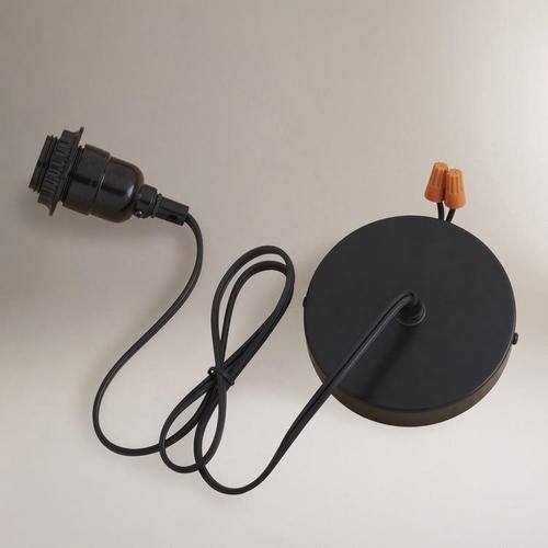 Black Electrical Ceiling Hardwire Kit Jars I Am And