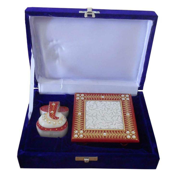 Gorgeous #Traditional #Marble #Handicraft #Chowki #Ganesha #Home/office #Decor #Gift Item http://kalracreations.com/home-furnishing/marble-art/traditional-marble-handicraft-chowki-ganesha-home-office-decor-gift-item.html