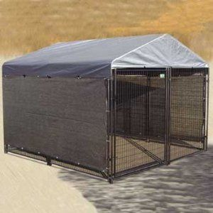 Lucky Dog Windscreen-Shade Kit for Sides of Dog Kennel., 57-Inch Wide by 34-Feet Long: Dog House