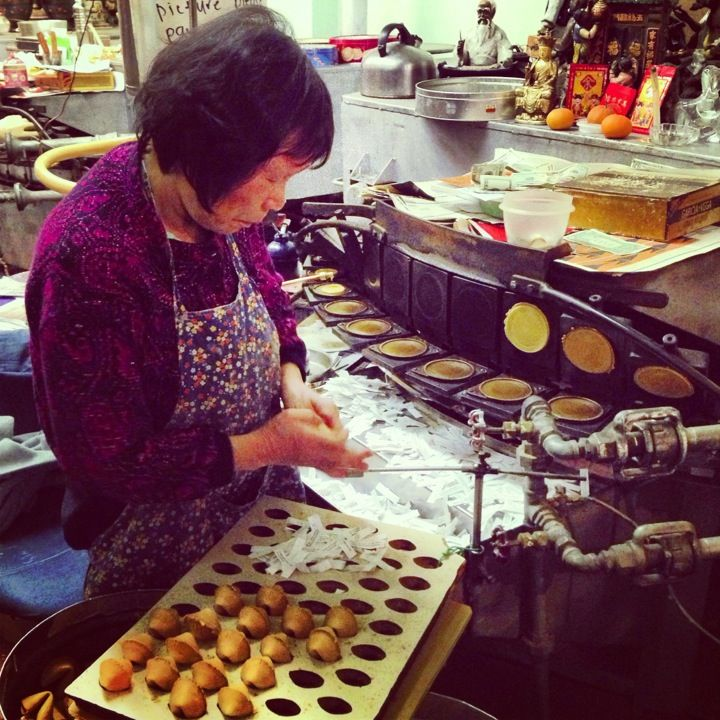 Visit Chinatown's Golden Gate Fortune Cookie Factory to see how handmade fortune cookies are made.