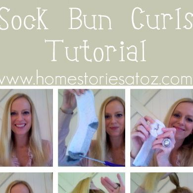 Back in early October, I shared with you my love of using the sock bun curling method! Since that time I have received numerous emails and comments asking for more information on how to get your sock bun curls to look good. So for tod