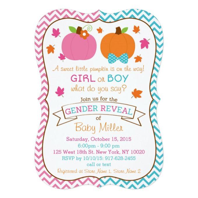 baby reveal invitations