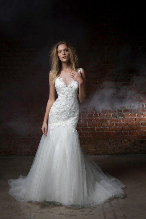 Fit and flare wedding dresses | Henry Roth 2015 Wedding Dresses via @WorldofBridal