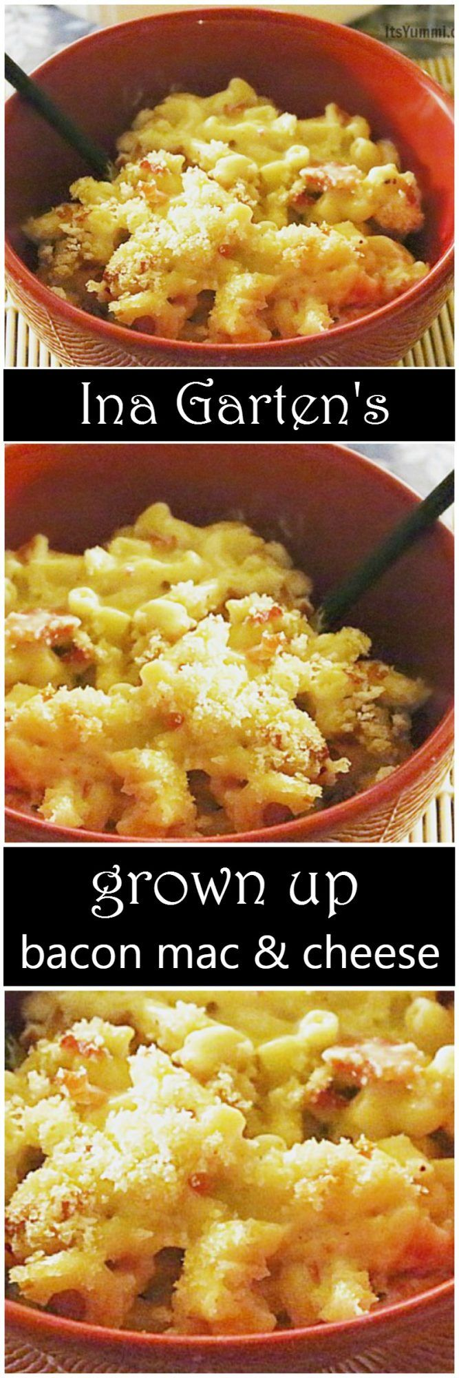 Ina Garten's Grown Up Bacon Mac and Cheese Recipe - This is pure comfort food with a cheese sauce made from FOUR cheeses! Get the recipe from @itsyummi