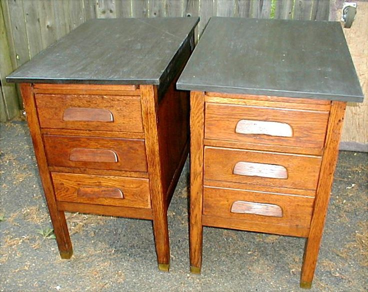 Better View Of The New Top Made To Look Like An Old Slate Chalkboard 1910 School Oak Desk Turned Into End Tables Or Bed Side Beautiful Wood