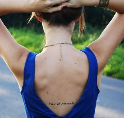 Love this tattoo placement idea, right under the bra line.