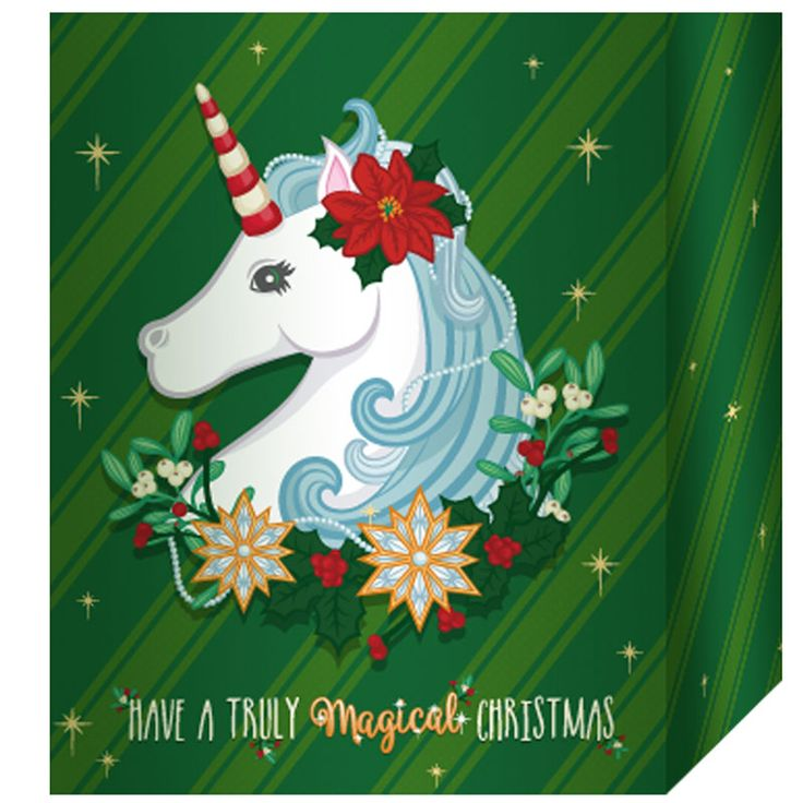 Christmas Unicorn Gift Bag 26 x 12 x 33cm