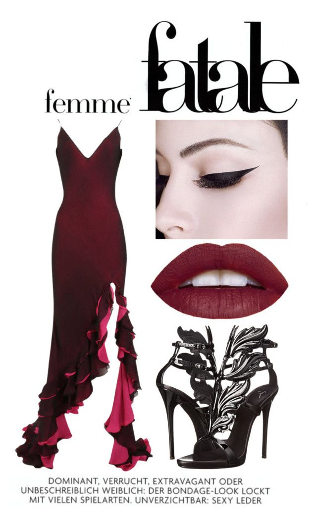 """""""Femme Fatale"""" by valkyriereign ❤ liked on Polyvore featuring Giuseppe Zanotti"""