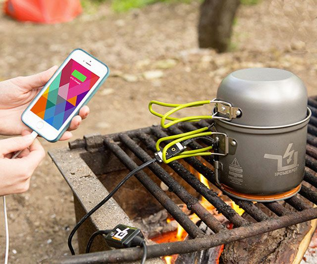 Back to the Future II didn't manage to predict this bizarre technological feat of the 2010s: cooking and charging your phone with the same device. (Not to mention chilling, blending, and charging your phone with the same dev