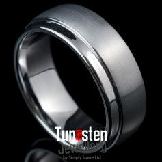 White Tungsten Ring