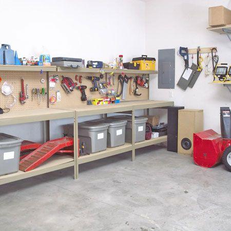 work counter/storage for garage