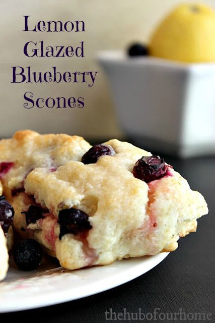 Lemon Glazed Blueberry Scones - because my hubby is fond of scones.