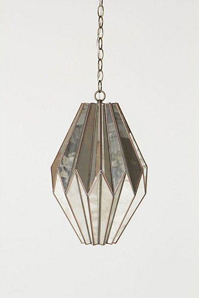 geometric | structural | mirror | pendant | lighting