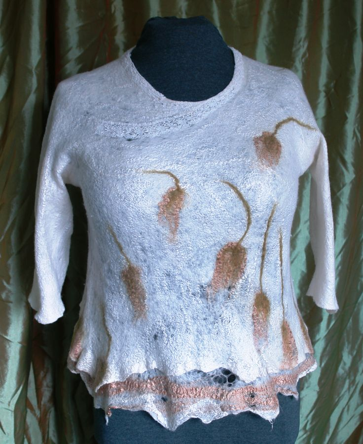cashmere, nuno felted dress, for sale