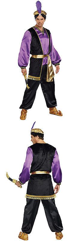 Men Costumes: Brand New The Sultan Arabian Men Aladdin Adult Costume BUY IT NOW ONLY: $32.35