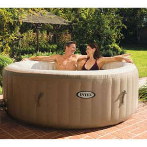This is interesting...blow up spa. Why not! Intex PureSpa Bubble Therapy Set
