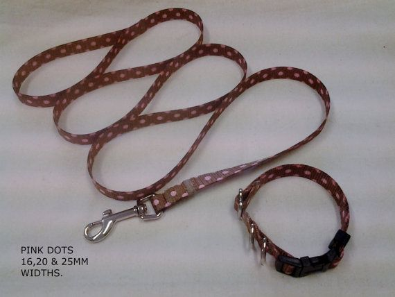 COLLAR & LEAD  16mm 5/8 WIDE for Small/Petite by YIPYAPDOGWEAR, $18.99