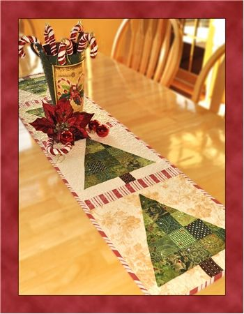 Patchwork Christmas Tree Table Runner Pattern: You'll be humming along with this Patchwork Christmas Tree table runner designed by Jennifer Bosworth for Shabby Fabrics.