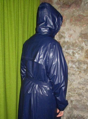 Details zu Jeantex PVC Gummi Regenmantel Mantel Rubber ...