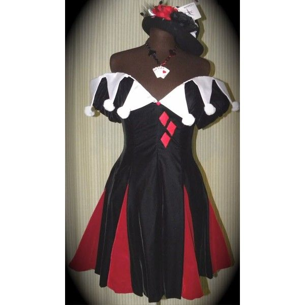 Plus Size HARLEY QUINN Cosplay Taffeta Costume Bustle By Gothic... ❤ liked on Polyvore featuring costumes, shrug cardigan, plus size womens costumes, plus size harley quinn costume, plus size shrugs and women's plus size harley quinn costume