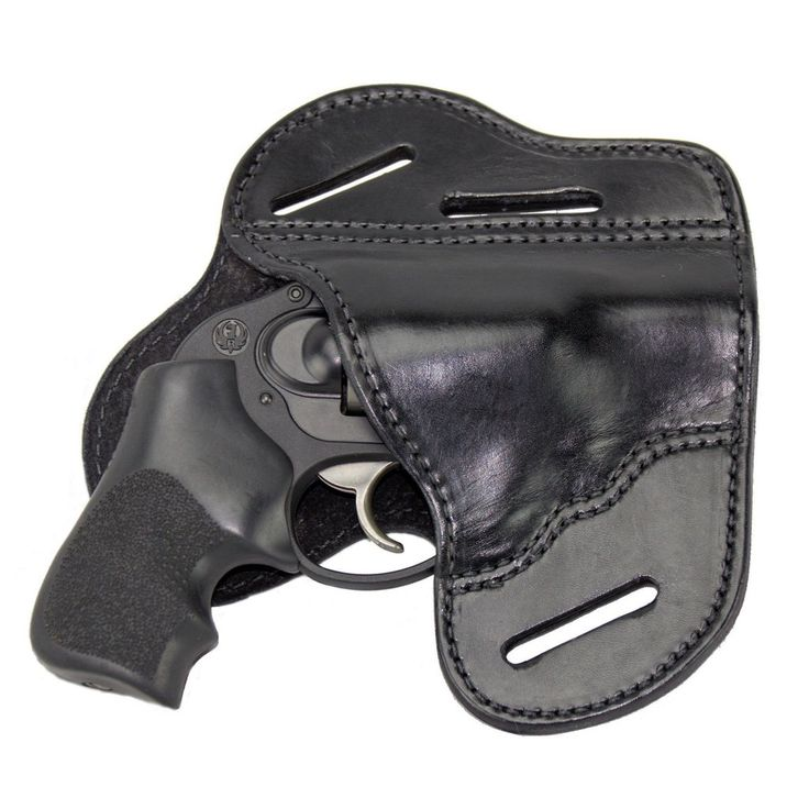 The Ultimate 3 Slot OWB Leather Gun Belt Holster - J-Frame & 38 special - Lifetime Warranty