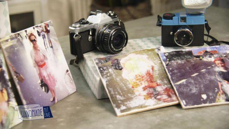 """Fotos in Bilderrahmen zu packen ist langweilig? Dann druckt eure Urlaubsfotos doch auf Fliesen! - """"Handmade mit Enie"""", samstags um 14.00 Uhr auf sixx."""