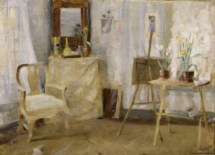 Maria Wiik (Finnish, 1853 - 1928): In the studio (1880s) (via Finnish National Gallery)