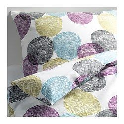 MALIN RUND Duvet cover and pillowcase(s), multicolor - multicolor - Full/Queen (Double/Queen) - IKEA