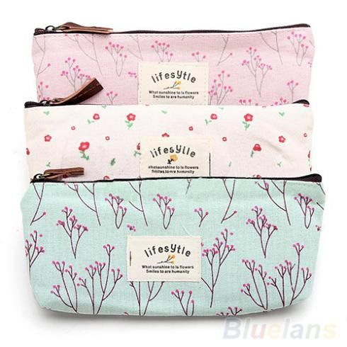 Hot Sale New Flower Floral Pencil Pen Canvas Case Cosmetic Makeup Tool Bag Storage Pouch Purse 1DD6-in Cosmetic Bags & Cases from Luggage & Bags on Aliexpress.com | Alibaba Group  #cosmetics #cosmetic #bag #lifestyle #women #fashion #handbag