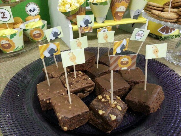 Brownies con banderitas