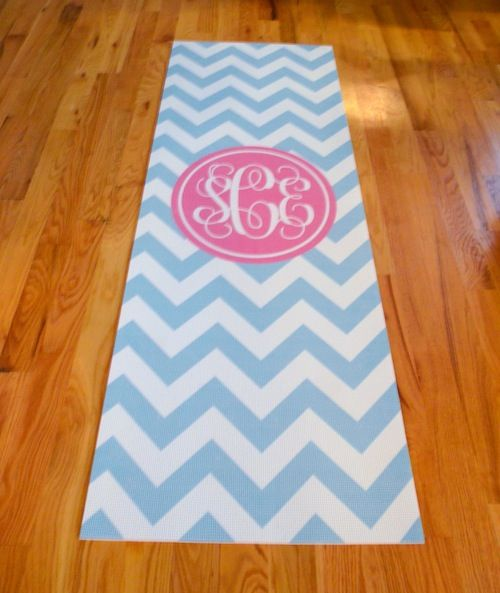 Personalized Yoga Mats @ 2PreppyGirls.com  FREE PROOF to minimize mistakes.