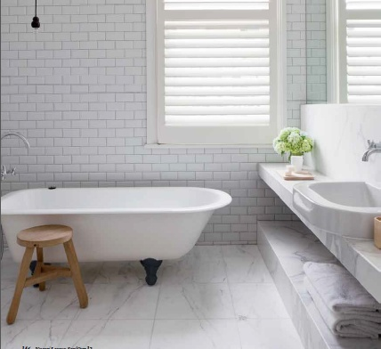 Awesome Bathrooms White Tile Blue Gray Updated Bathroom Pictures To Pin On