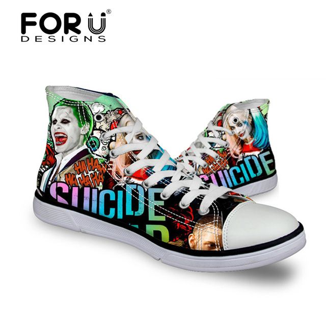 We love it and we know you also love it as well FORUDESIGNS 2017 Fashion Men Casual shoes,Classic Canvas Shoes for Mens,Harley Quinn Printing Male High Top Walking shoes men just only $26.39 with free shipping worldwide  #menshoes Plese click on picture to see our special price for you