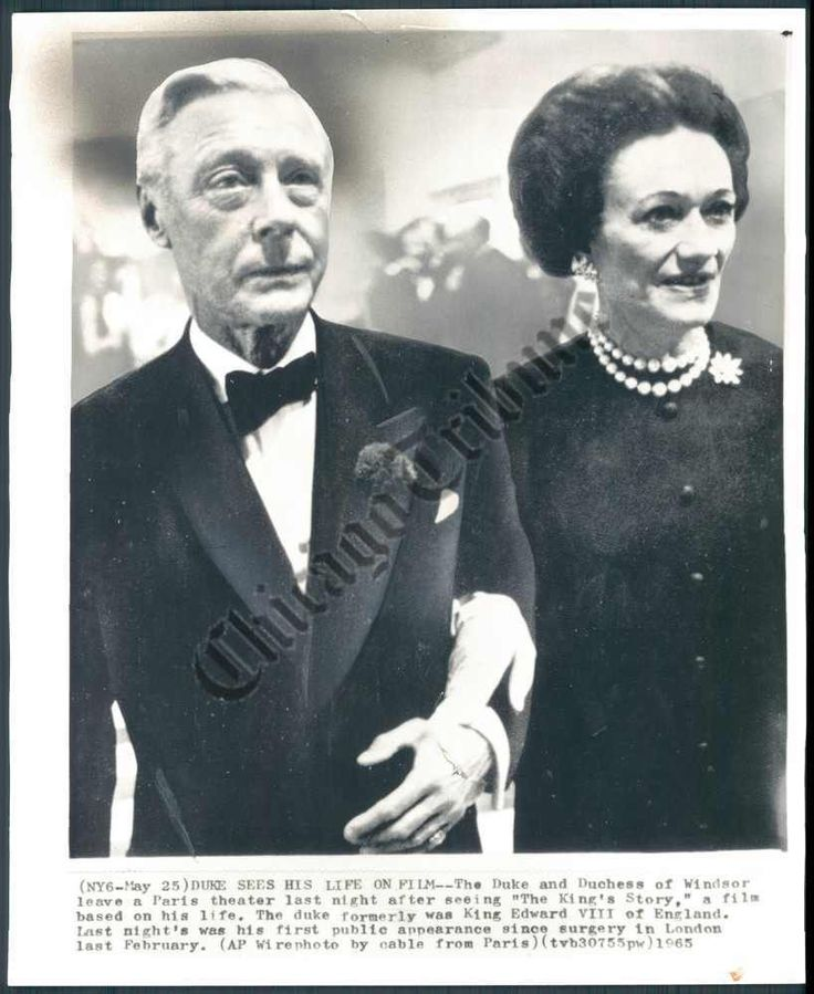 Duke+and+Duchess+of+Windsor. May 5 th, 1965 at