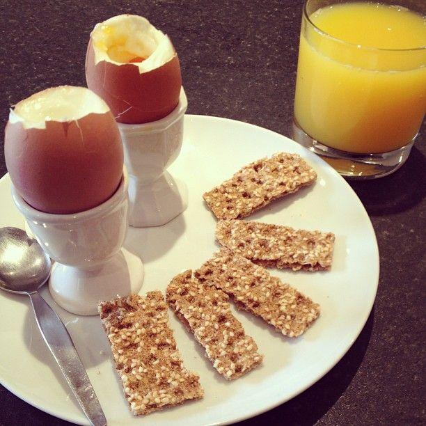 Eggs & Ryvita Sesame Seed soliders.....