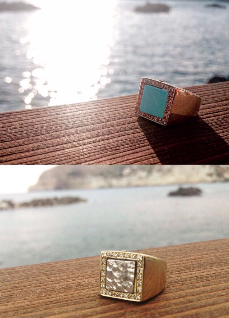 Mattina e sera... #peppinocapuanojewelry#viacondotti#chiaradevitofalconi#design#ring#doubleface#gold#diamonds#turquise#pepita#handmade#coloridiversi#estate#madeinitaly