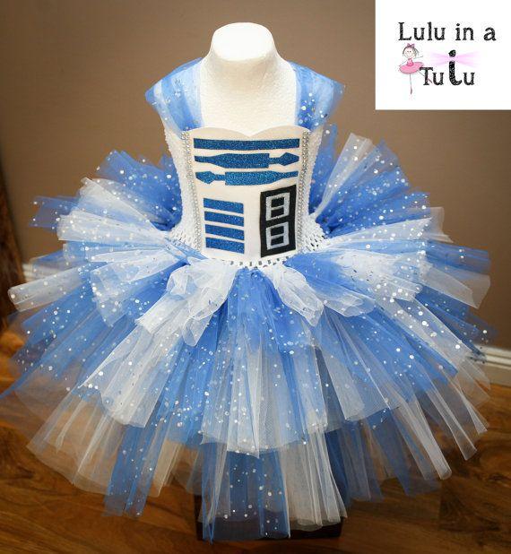 R2D2 Star Wars Robot Inspired Tutu Dress by LuluInATutuUK on Etsy