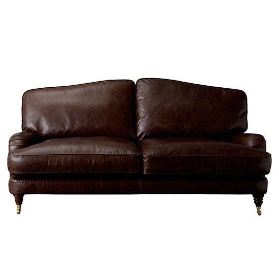 Laura Ashley Lynden Leather Large 2 Seater Sofa